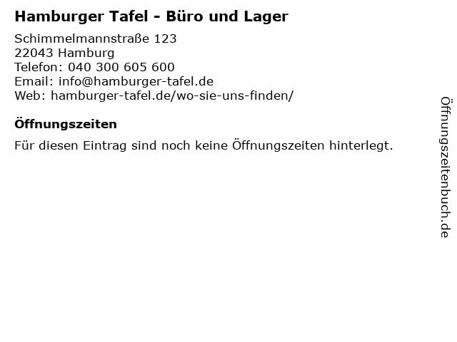 Hamburger Tafel - Büro und Lager in Hamburg: Adresse und Öffnungszeiten