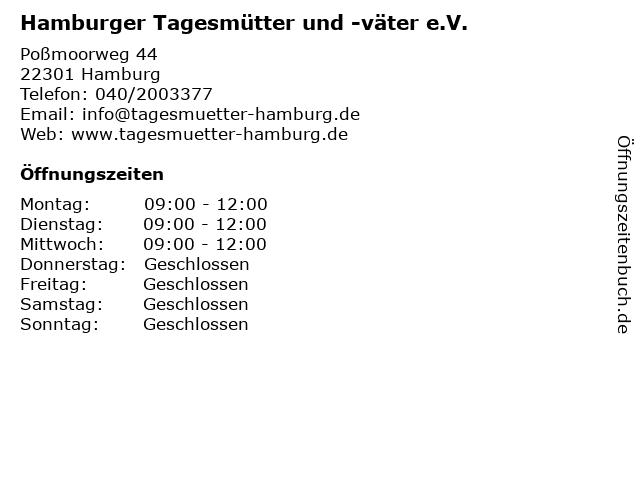 Hamburger Tagesmütter und -väter e.V. in Hamburg: Adresse und Öffnungszeiten