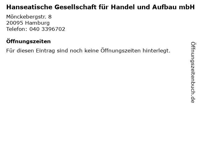Hanseatische Gesellschaft für Handel und Aufbau mbH in Hamburg: Adresse und Öffnungszeiten