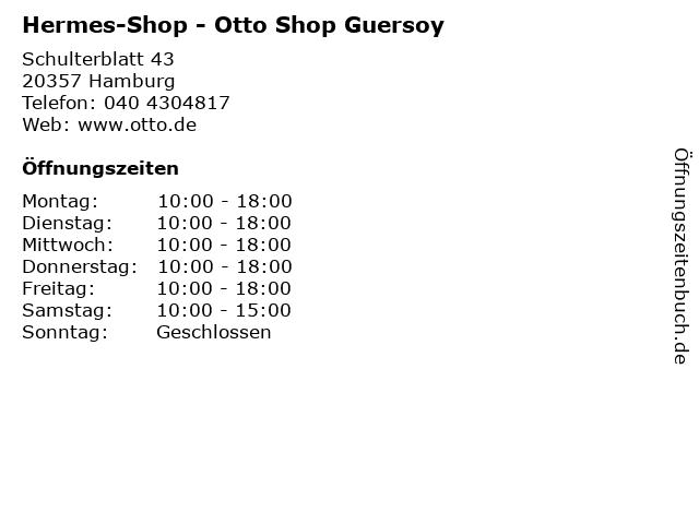 Hermes-Shop - Otto Shop Guersoy in Hamburg: Adresse und Öffnungszeiten