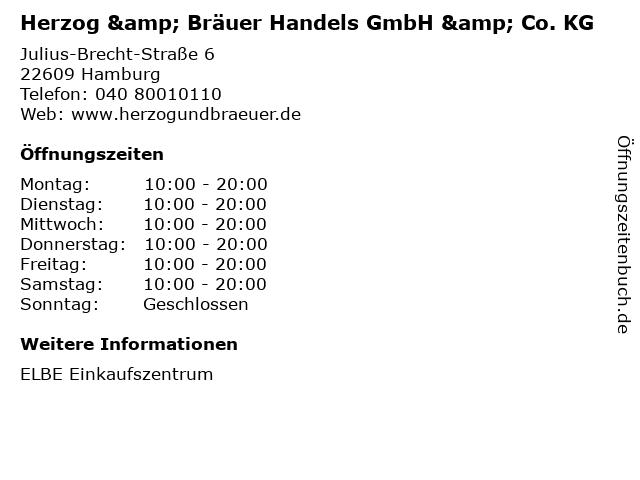 Herzog & Bräuer Handels GmbH & Co. KG in Hamburg: Adresse und Öffnungszeiten