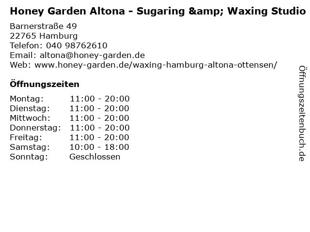 Honey Garden Altona - Sugaring & Waxing Studio in Hamburg: Adresse und Öffnungszeiten