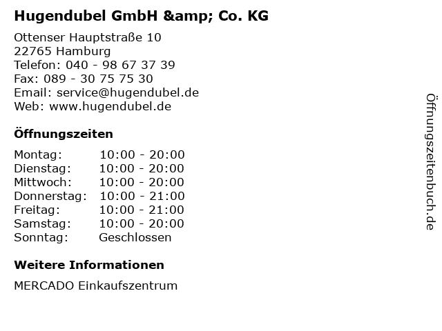 Hugendubel GmbH & Co. KG in Hamburg: Adresse und Öffnungszeiten