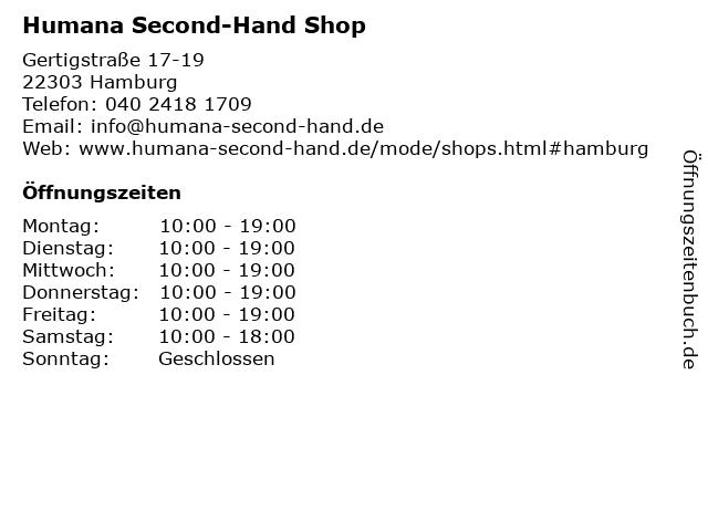 Humana Second-Hand Shop in Hamburg: Adresse und Öffnungszeiten