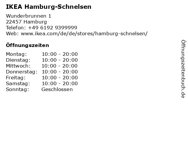 IKEA Hamburg-Schnelsen in Hamburg: Adresse und Öffnungszeiten