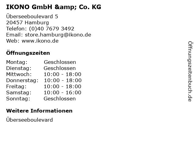 IKONO GmbH & Co. KG in Hamburg: Adresse und Öffnungszeiten