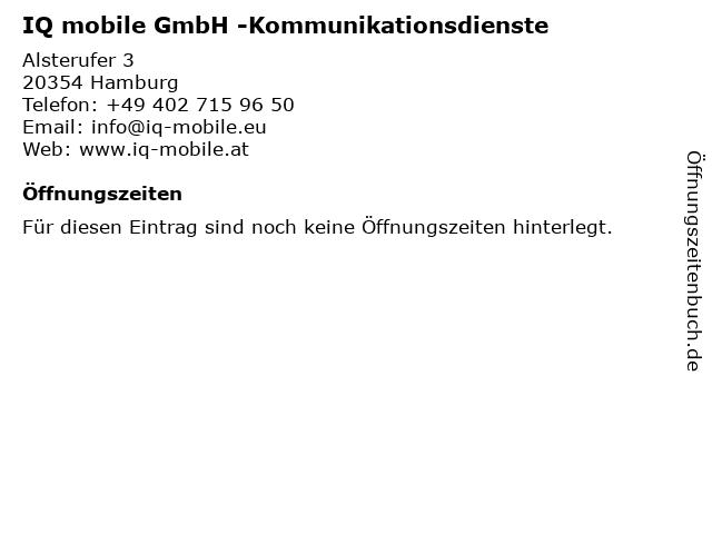 IQ mobile GmbH -Kommunikationsdienste in Hamburg: Adresse und Öffnungszeiten
