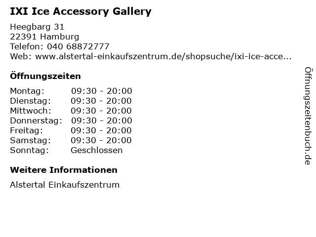 IXI Ice Accessory Gallery in Hamburg: Adresse und Öffnungszeiten