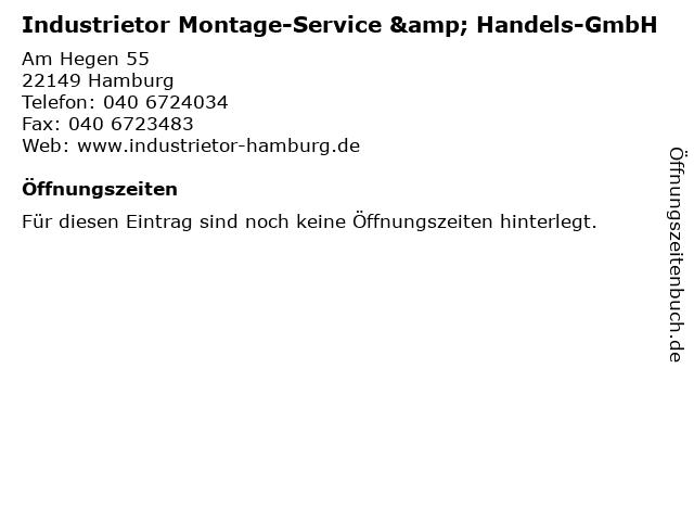 Industrietor Montage-Service & Handels-GmbH in Hamburg: Adresse und Öffnungszeiten