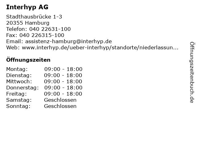 Interhyp AG Geschäftstelle in Hamburg: Adresse und Öffnungszeiten