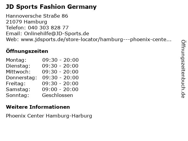 JD Sports Fashion Germany in Hamburg: Adresse und Öffnungszeiten