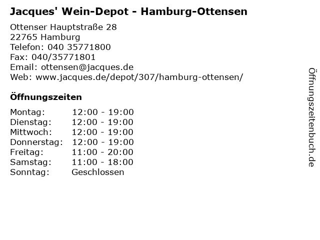 Jacques' Wein-Depot in Hamburg-Ottensen: Adresse und Öffnungszeiten