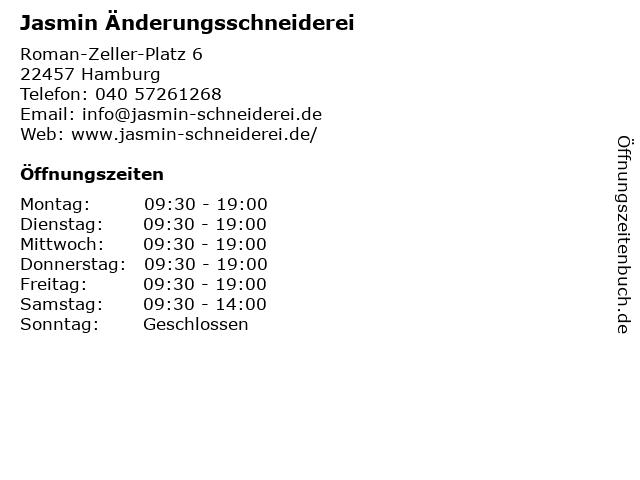 Jasmin Änderungsschneiderei in Hamburg: Adresse und Öffnungszeiten