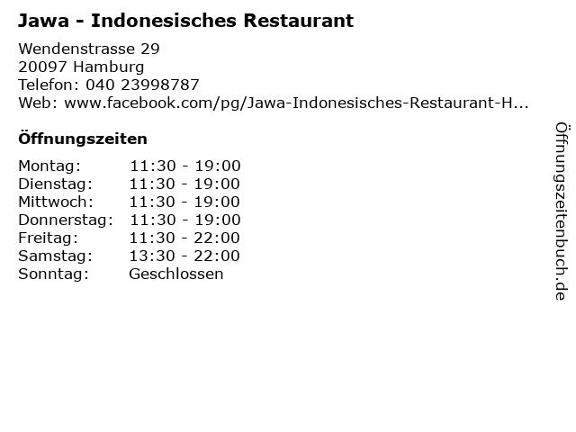 ᐅ Offnungszeiten Jawa Indonesisches Restaurant