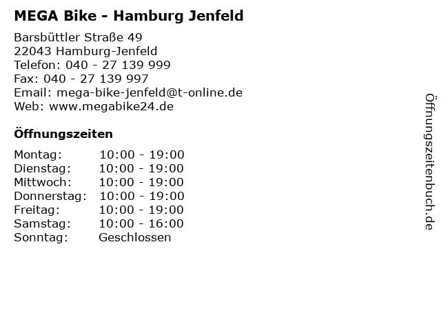 MEGA Bike - Hamburg Jenfeld in Hamburg-Jenfeld: Adresse und Öffnungszeiten