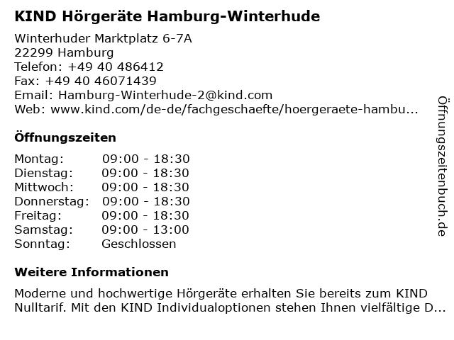 KIND Hörgeräte GmbH & Co. KG in Hamburg: Adresse und Öffnungszeiten