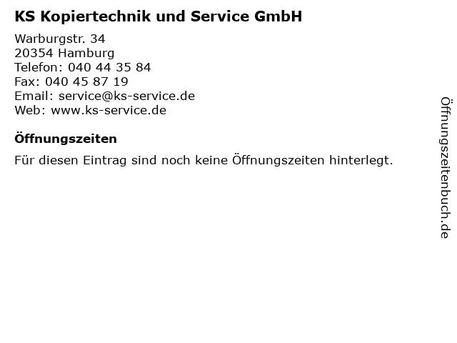 KS Kopiertechnik und Service GmbH in Hamburg: Adresse und Öffnungszeiten
