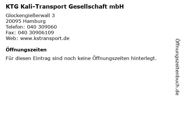 KTG Kali-Transport Gesellschaft mbH in Hamburg: Adresse und Öffnungszeiten