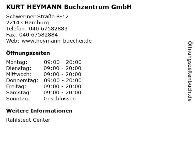 KURT HEYMANN Buchzentrum GmbH in Hamburg: Adresse und Öffnungszeiten