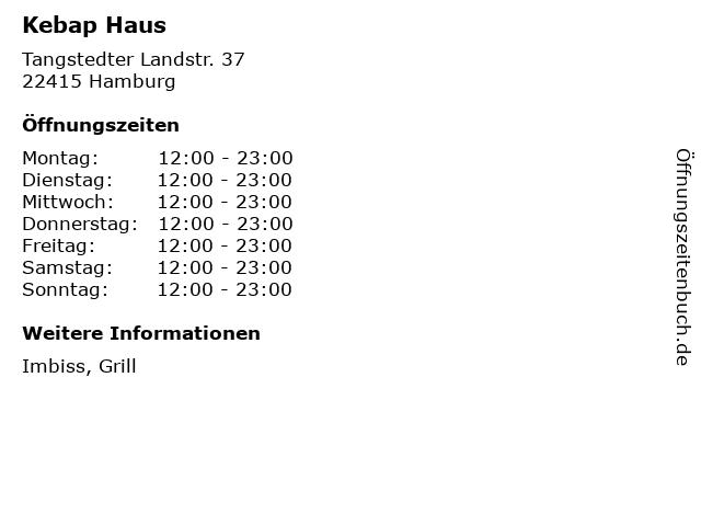 Kebap Haus in Hamburg: Adresse und Öffnungszeiten