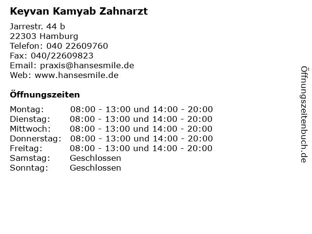 Keyvan Kamyab Zahnarzt in Hamburg: Adresse und Öffnungszeiten