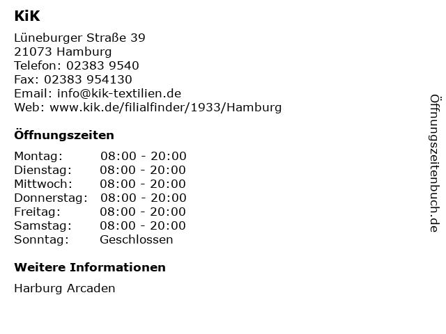 KiK Textilien & Non-Food GmbH in Hamburg: Adresse und Öffnungszeiten