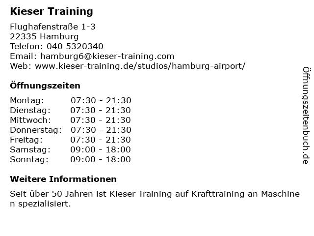 Kieser Training in Hamburg: Adresse und Öffnungszeiten
