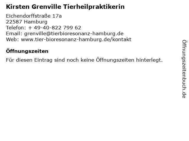 Kirsten Grenville Tierheilpraktikerin in Hamburg: Adresse und Öffnungszeiten