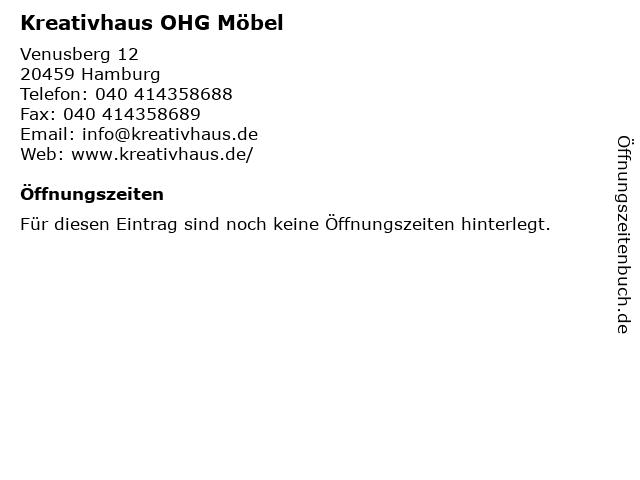 Kreativhaus OHG Möbel in Hamburg: Adresse und Öffnungszeiten
