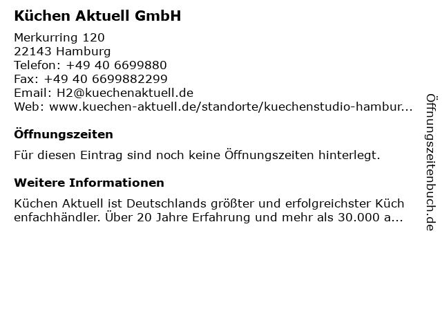 ᐅ Offnungszeiten Kuchen Aktuell Gmbh Merkurring 120 In Hamburg