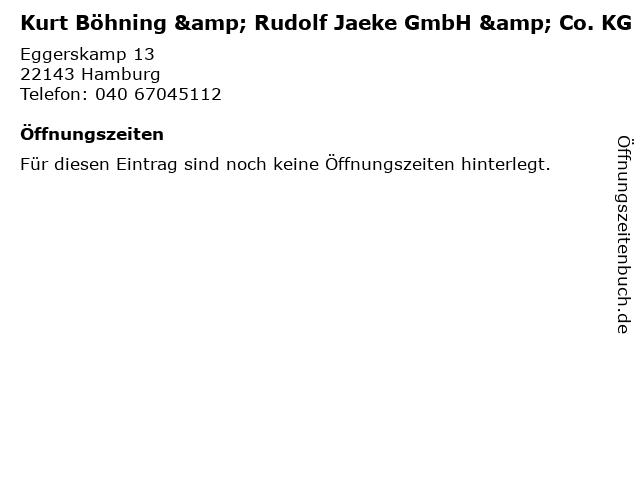 Kurt Böhning & Rudolf Jaeke GmbH & Co. KG in Hamburg: Adresse und Öffnungszeiten