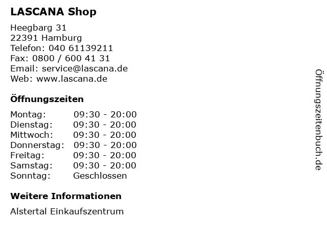 LASCANA Shop in Hamburg: Adresse und Öffnungszeiten