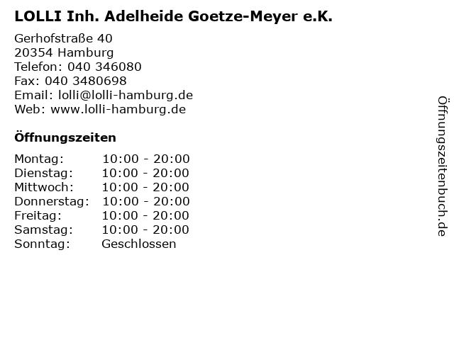 LOLLI Inh. Adelheide Goetze-Meyer e.K. in Hamburg: Adresse und Öffnungszeiten
