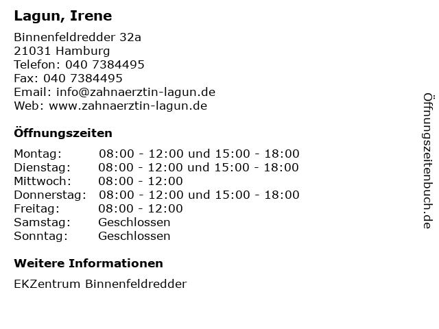 Lagun, Irene in Hamburg: Adresse und Öffnungszeiten
