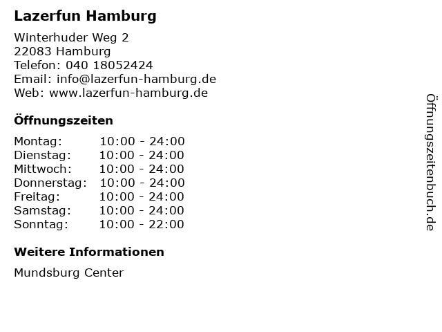 Lazerfun Hamburg in Hamburg: Adresse und Öffnungszeiten