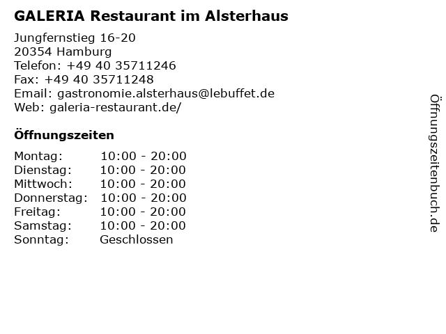 LeBuffet Restaurant im Alsterhaus in Hamburg: Adresse und Öffnungszeiten