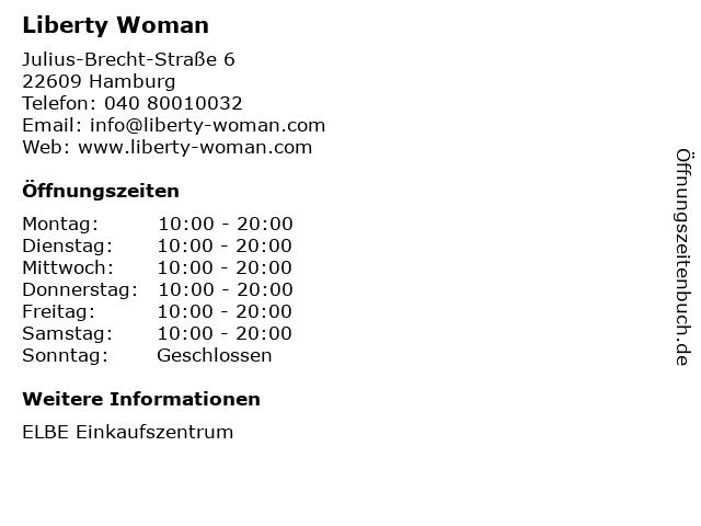 Liberty Woman in Hamburg: Adresse und Öffnungszeiten