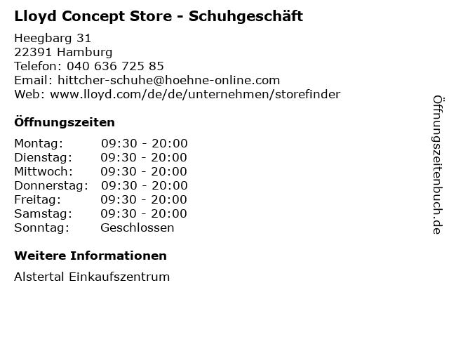 Lloyd Concept Store - Schuhgeschäft in Hamburg: Adresse und Öffnungszeiten