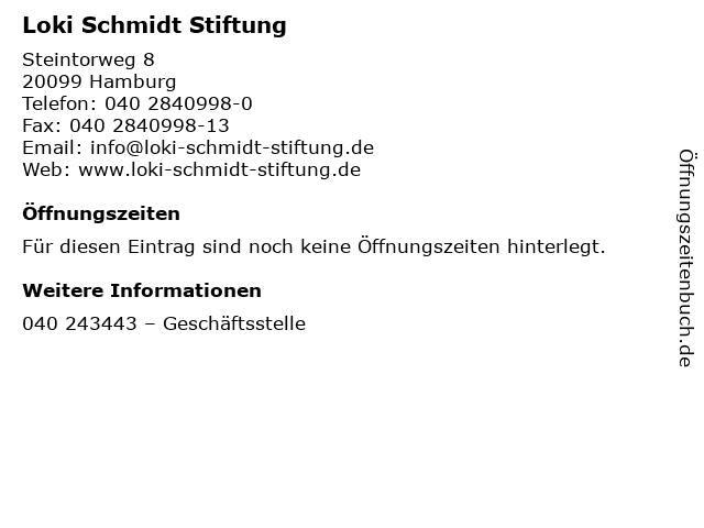 Loki Schmidt Stiftung in Hamburg: Adresse und Öffnungszeiten