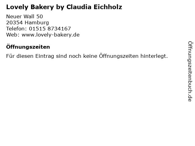 Lovely Bakery by Claudia Eichholz in Hamburg: Adresse und Öffnungszeiten