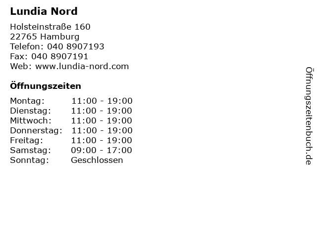 Lundia Nord in Hamburg: Adresse und Öffnungszeiten