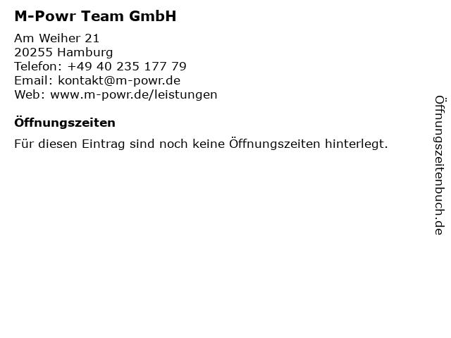 M-Powr Team GmbH in Hamburg: Adresse und Öffnungszeiten