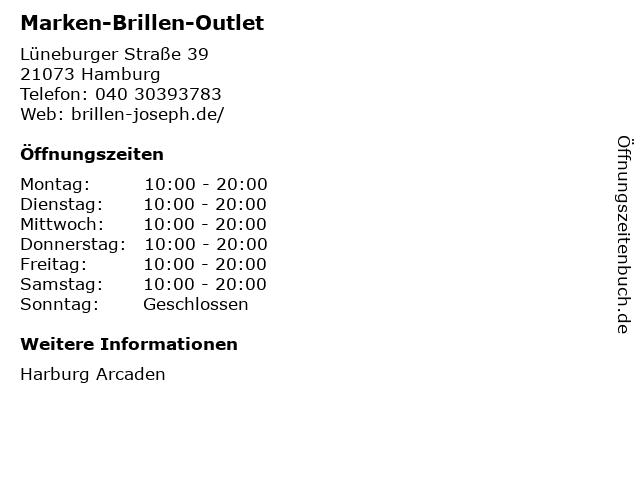 Marken-Brillen-Outlet in Hamburg: Adresse und Öffnungszeiten