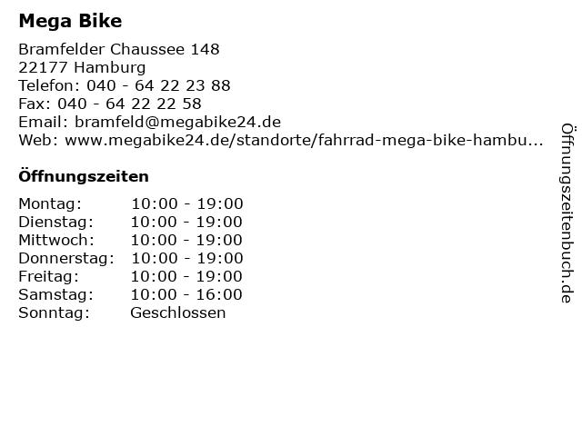 Mega Bike in Hamburg: Adresse und Öffnungszeiten