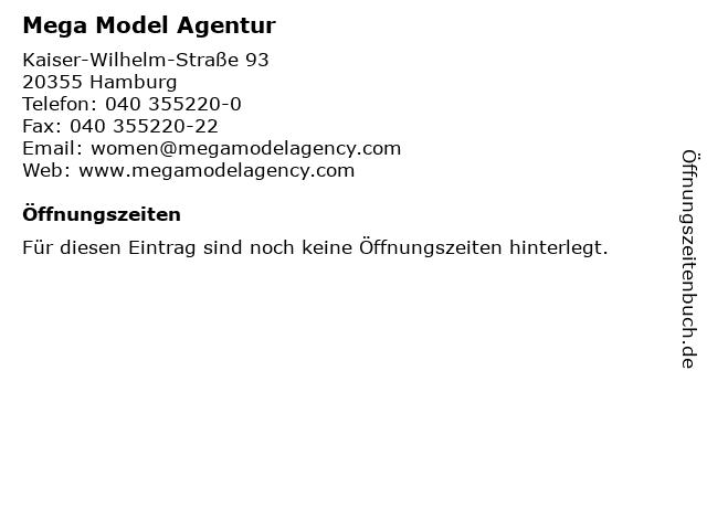 Mega Model Agentur in Hamburg: Adresse und Öffnungszeiten
