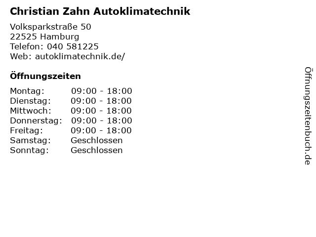 Meier & Zahn Autoklimatechnik GmbH in Hamburg: Adresse und Öffnungszeiten