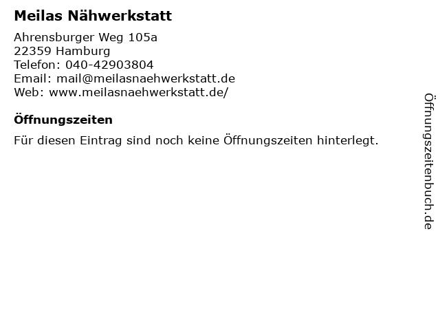 Meilas Nähwerkstatt in Hamburg: Adresse und Öffnungszeiten