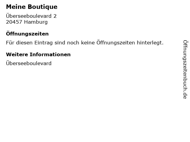 Meine Boutique in Hamburg: Adresse und Öffnungszeiten