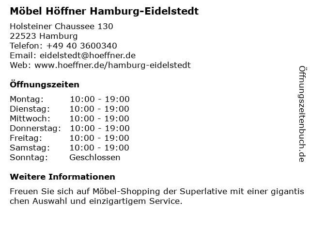 ᐅ öffnungszeiten Möbel Höffner Holsteiner Chaussee 130 In Hamburg