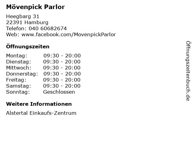 Mövenpick Parlor in Hamburg: Adresse und Öffnungszeiten